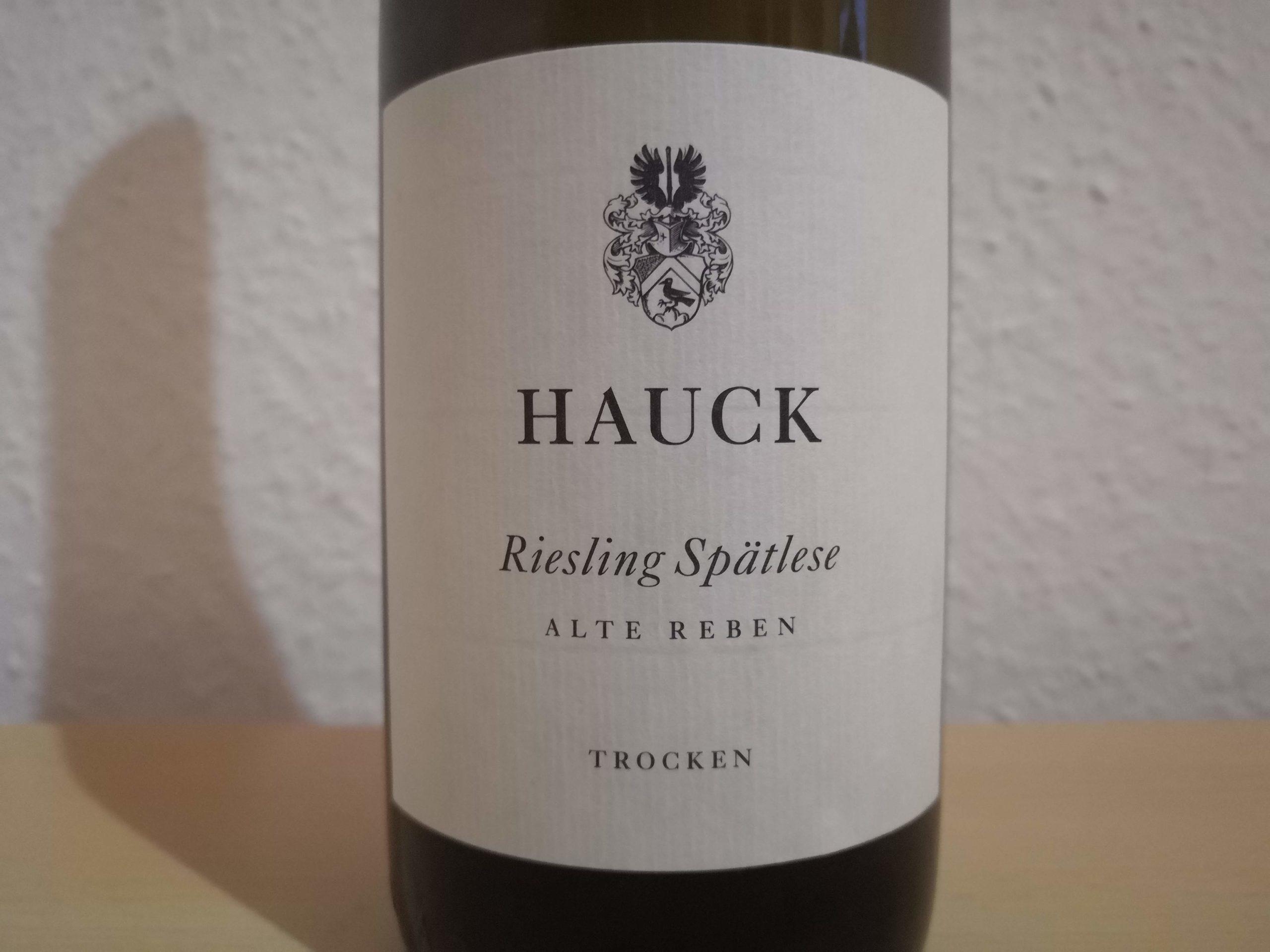"""2018er Riesling """"Alte Reben"""" Spätlese trocken vom Weingut Hauck"""