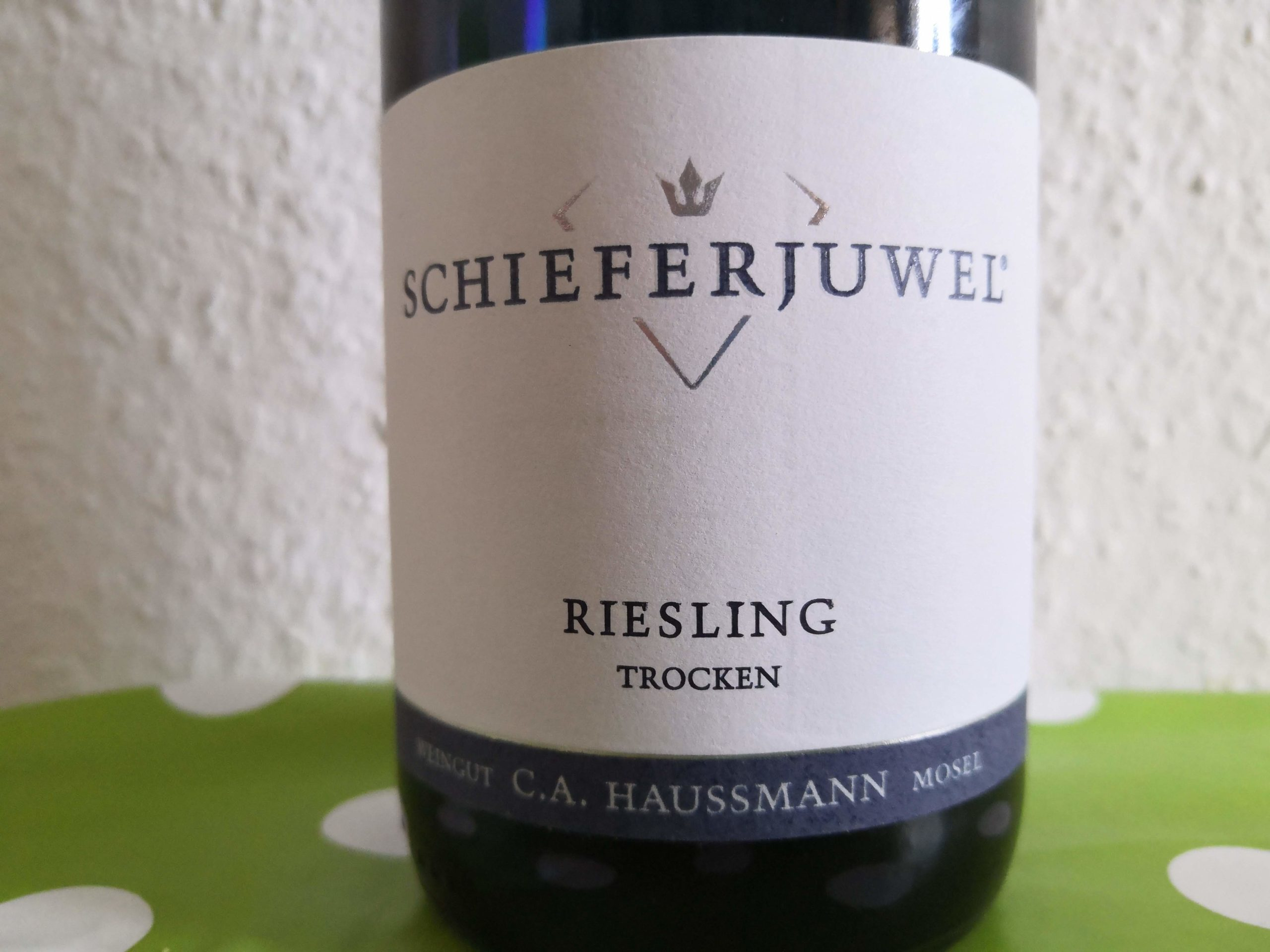 2016er Schieferjuwel Riesling trocken vom Weingut C.A. Hausmann