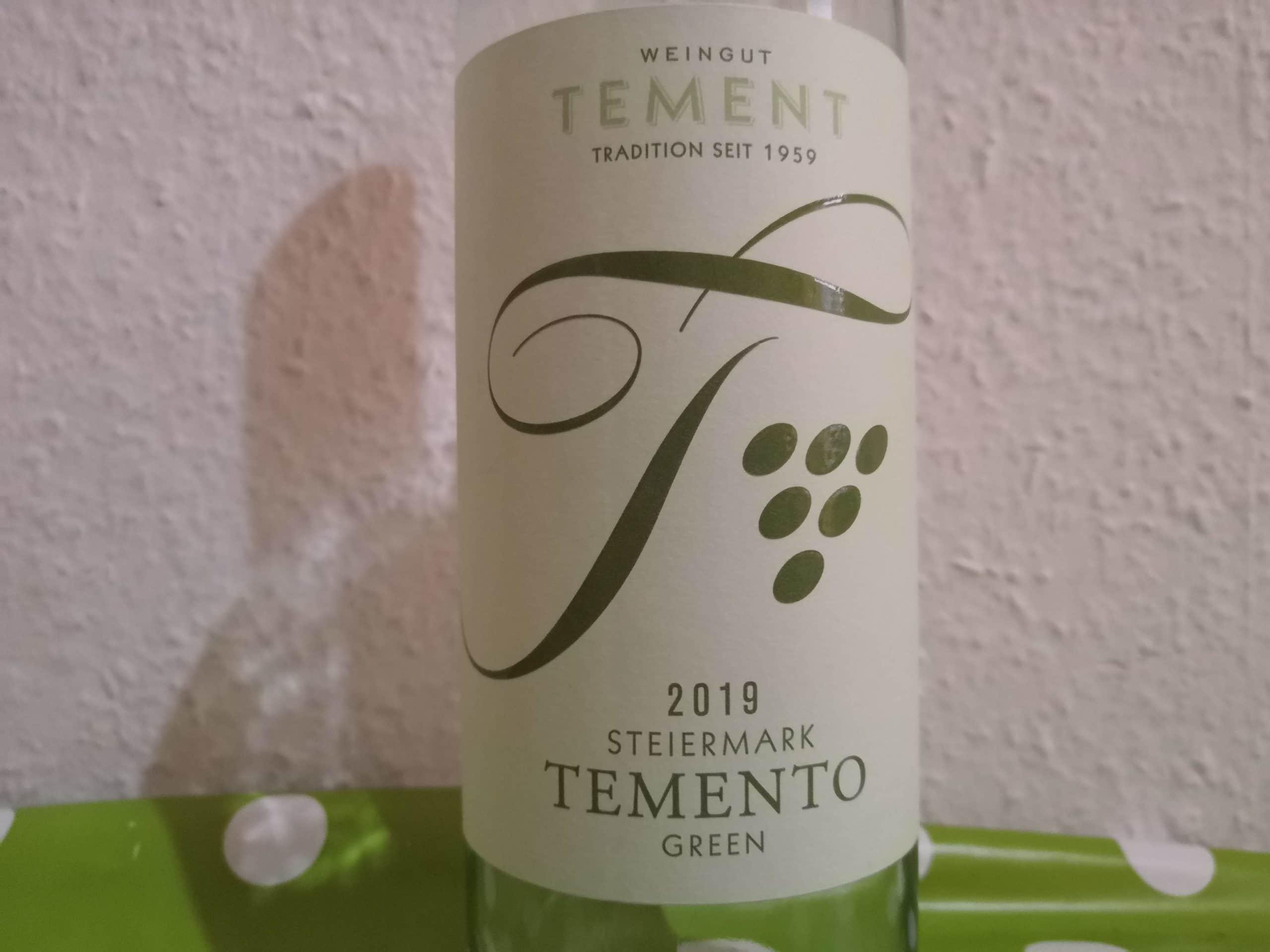 2019er Temento Green trocken vom Weingut Tement