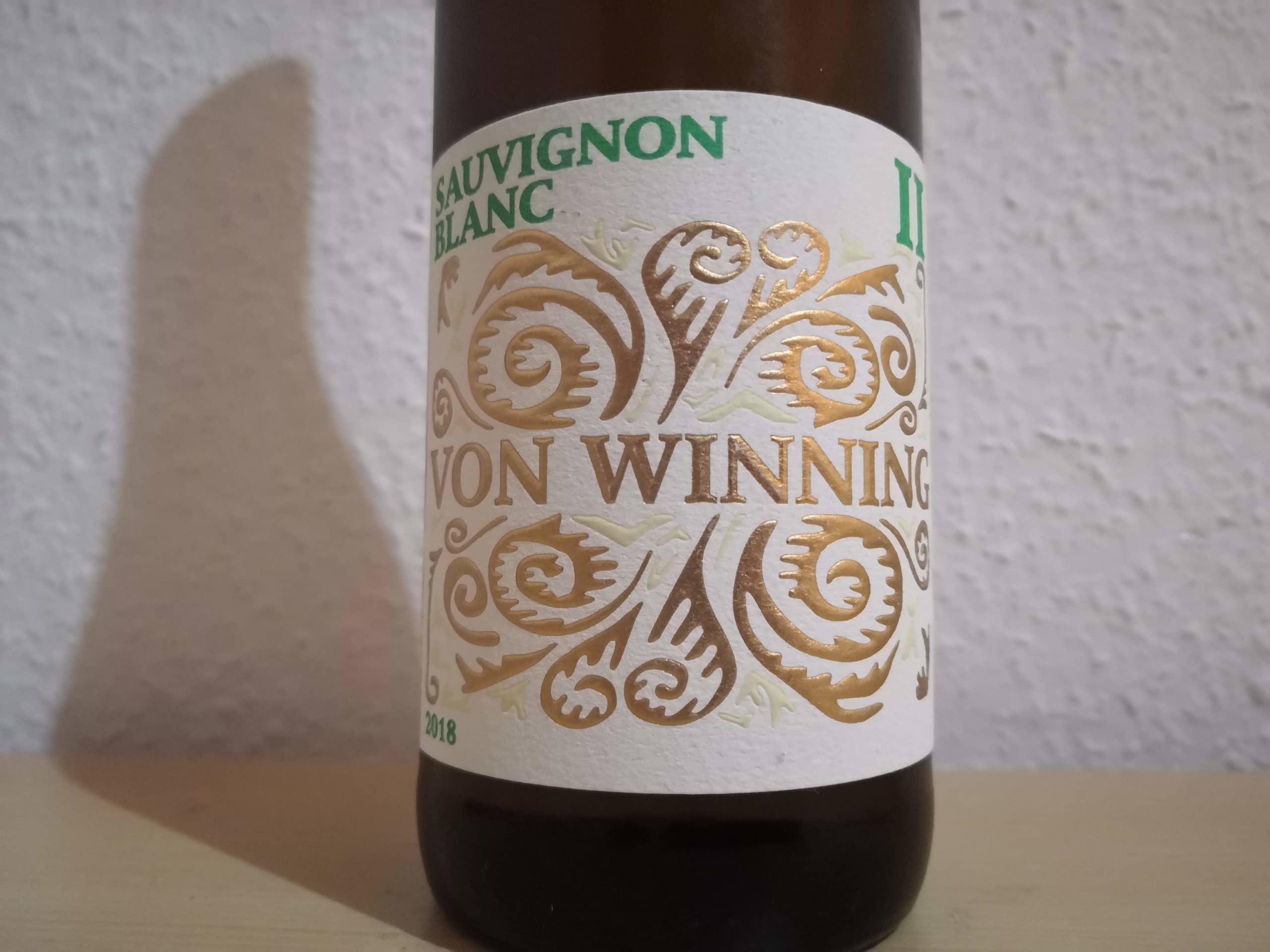 2018er Sauvignon Blanc II trocken – Weingut von Winning
