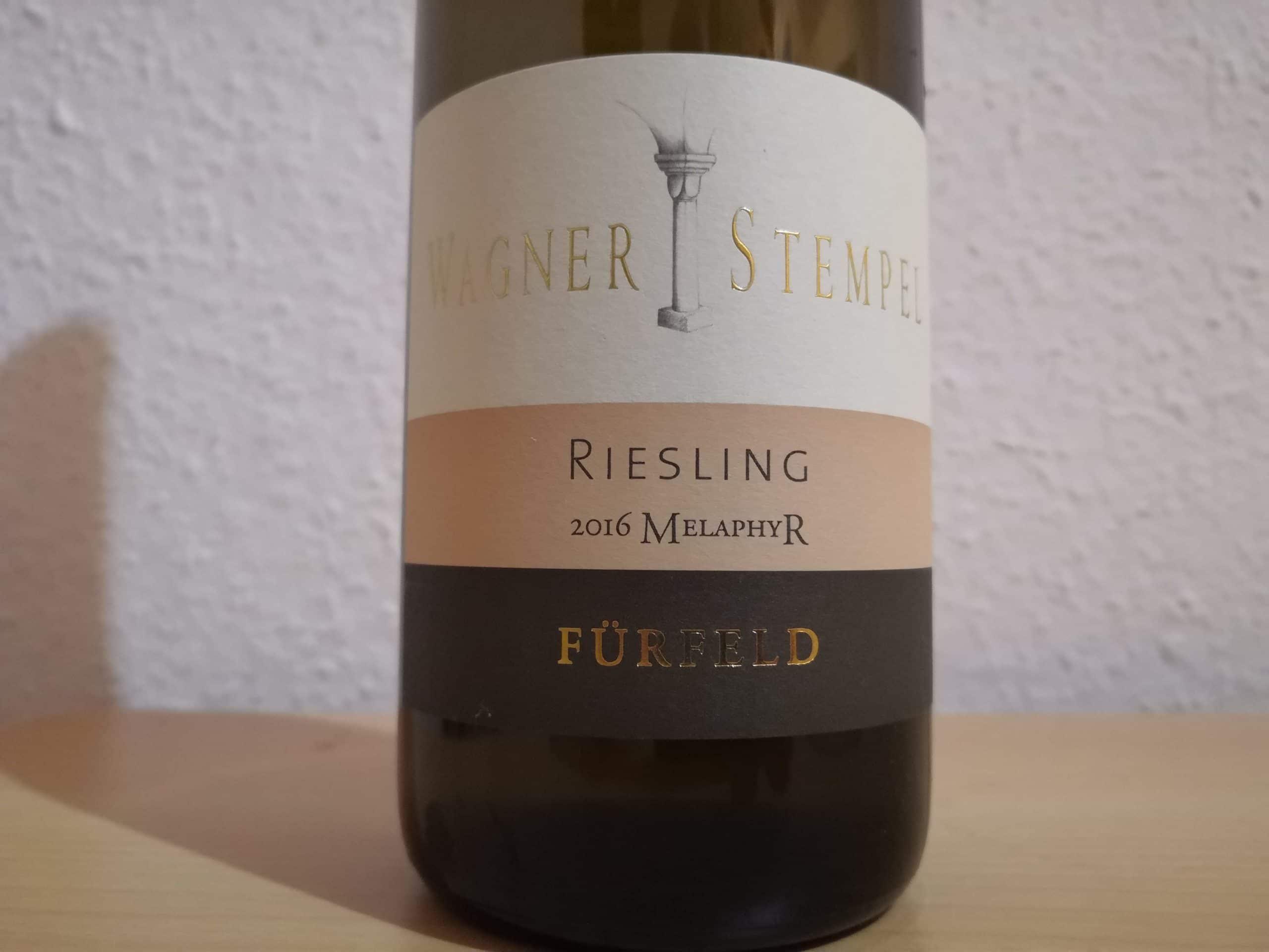 "2016er Fürfeld Riesling trocken ""Melaphyr"" – Weingut Wagner-Stempel"